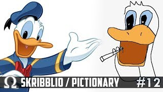 DONALD DUCK & THE GREEN GIANT! | Skribblio Drawing Game #12 Ft. Jiggly, Brian, Catz, Fourzero
