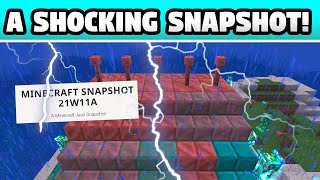 MINECRAFT SNAPSHOT 21W11A IS HERE! Waxing Copper, Lightning Rod & Oxidation!!