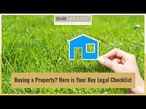 Buying a Property? Here is Your Key Legal Checklist