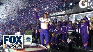 Watch Denny Hamlin celebrate his Daytona 500 victory   2019 DAYTONA 500