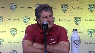 2018 Pac-12 Football Media Day: Washington State's Mike Leach podium session