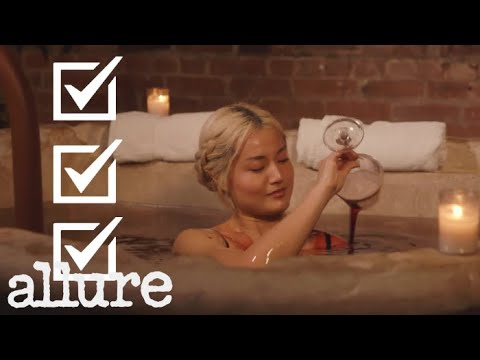 TRYING THE $450 RED WINE BATH | Beauty Haus With Sable | Allure