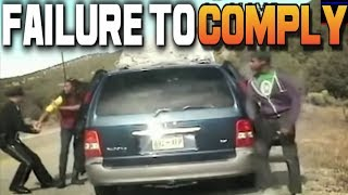 Mom + 6 Angry Kids ATTACK Cop! Failure to Comply! Instant Karma Instant Justice NEW Resisting Arrest