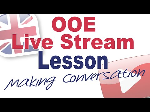 Live Stream Lesson Aug 4th (with Rich) - Making Conversation