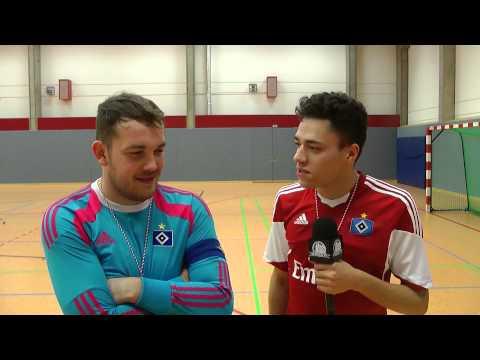 Ian Claus, Semir Svraka (Beide HSV Futsal) und Onur Ulusoy (Hamburg Panthers) - Die Stimmen zum Spiel (Hamburg Panthers - HSV Futsal, Finale Hamburger Futsal-Meisterschaft ) | ELBKICK.TV