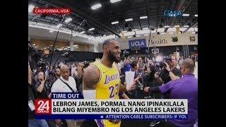 Lebron James, pormal nang ipinakilala bilang miyembro ng Los Angeles Lakers