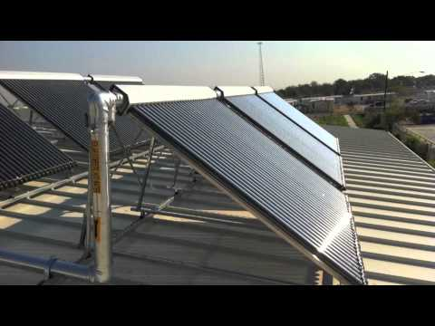 Apricus installation on SMART Facility, Austin, TX