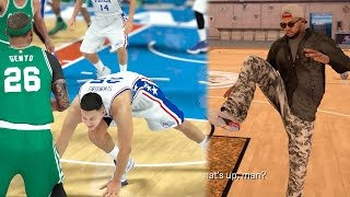 NBA 2k17 MyCAREER - Pump Fake Ankle Breaker Injury! Yoga With Denver!! Ep. 78