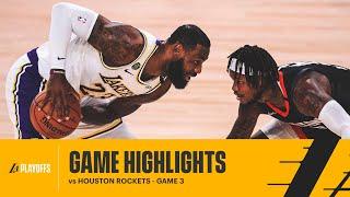 HIGHLIGHTS   LeBron James (36 pts, 7 reb, 4 blk) vs Houston Rockets