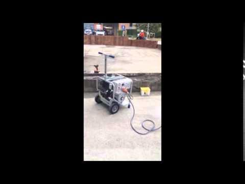 Makinex 9Kva Diesel Generator powering a floor grinder
