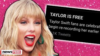 Taylor Swift FREE To Re-Record Her Masters & Fans Rejoice!