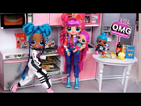 LOL OMG Doll Family Slumber Party with Little Sisters - Titi Toys Barbie Story