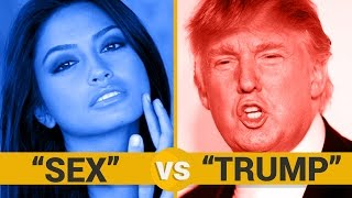 SEX VS TRUMP - Google Trends Show