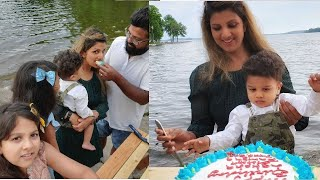 Rambha 44th birthday celebration video with kids and husba..