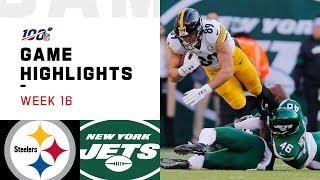 Steelers vs. Jets Week 16 Highlights | NFL 2019