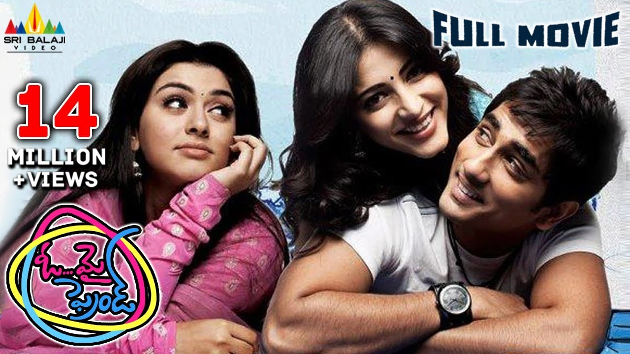 Oh My Friend | Telugu Latest Full Movies | Siddharth, Shruti Haasan, Hansika