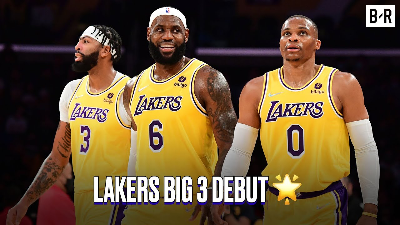 Anthony Davis, LeBron James and Russell Westbrook Make Their Big 3 Debut vs. Warriors