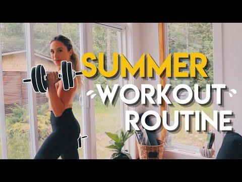 My Summer Workout Routine 🍑 Growing a Peach & Mermaid Hair