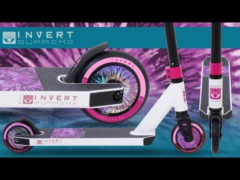 Video INVERT Trottinette SUPREME MINI 1-4-8 White Black Pink