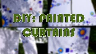 DIY: painted curtains