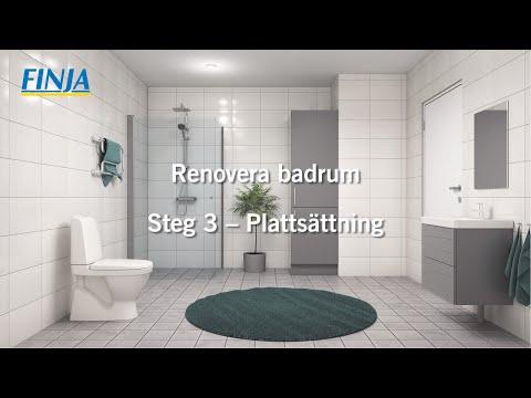 Renovera badrum - Steg 3 - Plattsättning