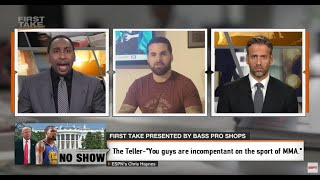 The Teller destroys Stephen A Smith and Max Kellerman.