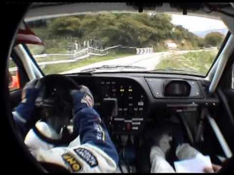 Gilles Panizzi insane driving 306 Maxi in car
