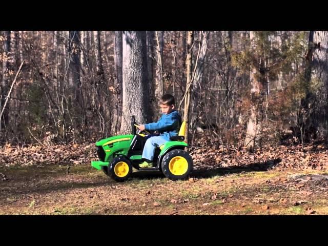 peg perego traktor john deere ground force 12v elektro. Black Bedroom Furniture Sets. Home Design Ideas