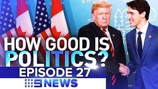 "Caught on camera: How ""two-faced"" Trudeau humiliated Trump | Nine News Australia"