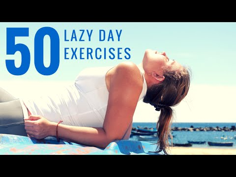 50 Lazy Day Exercises You Can Do At Home