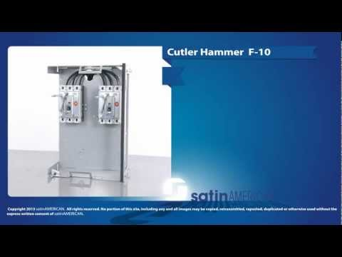 Cutler Hammer F-10 Series Double Feeder Motor Control Center Bucket