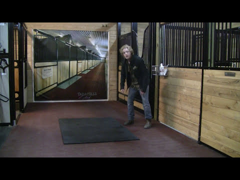 system equine logo and stall mats text