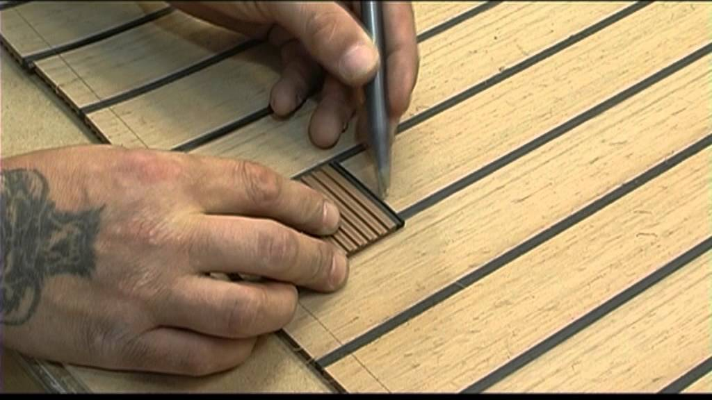 Synthetic teak decking for boats with ISITEEK - YouTube