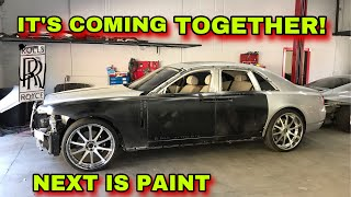 REBUILDING A WRECKED ROLLS ROYCE GHOST MANSORY PART 2