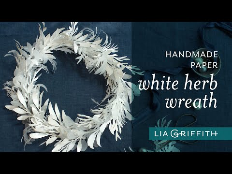 DIY Frosted Paper White Herb Wreath