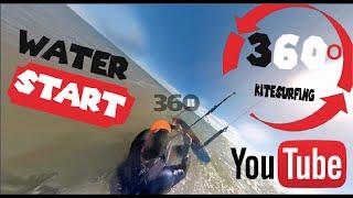 [360 video] ▶︎ Kitesurf beginner ▷ WATER START 360º view _ @By LAB