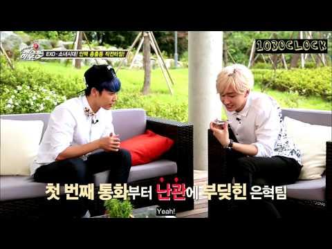 [ENGSUB] 141027 Super Junior M's Guesthouse - EXO Sehun Call