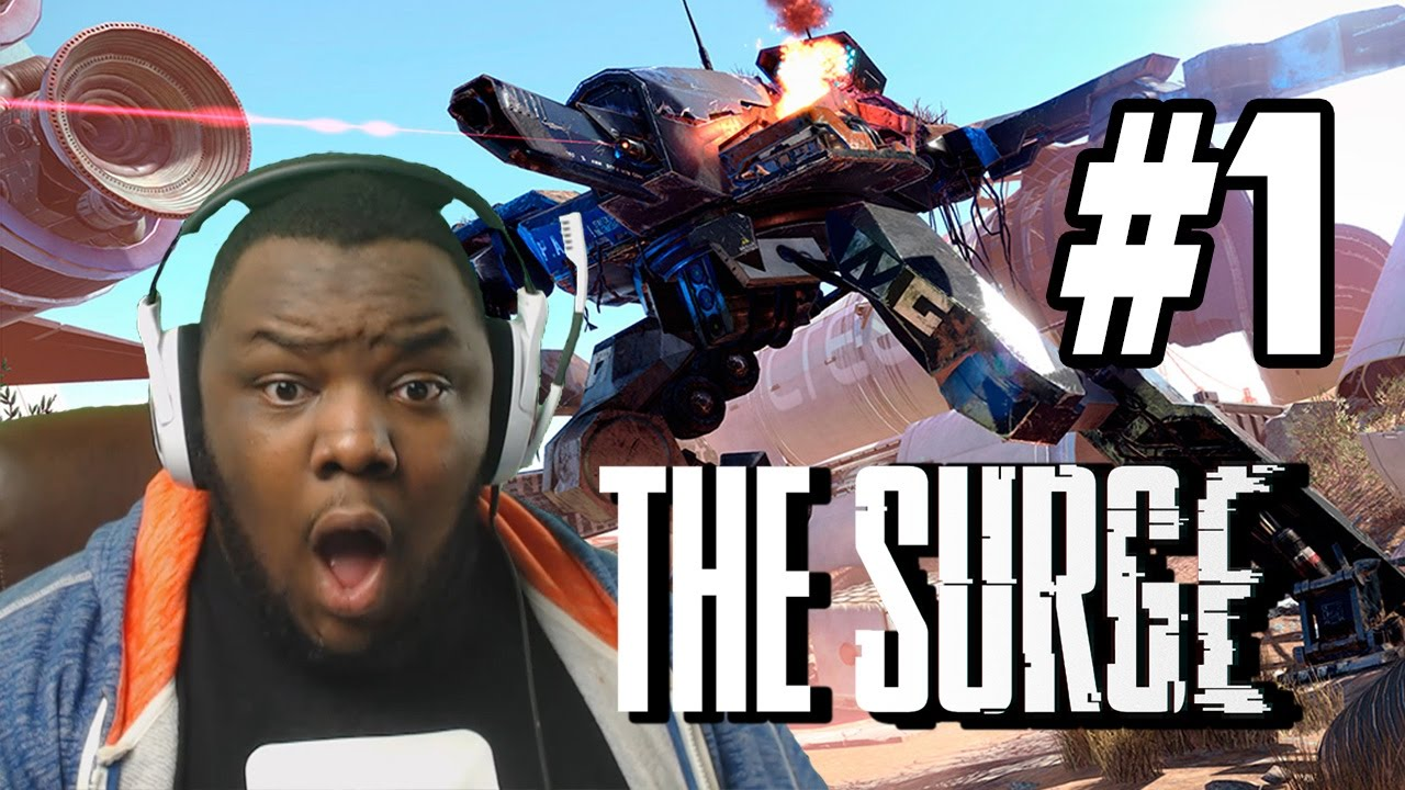 DARK SOULS, BUT WITH ROBOTS [The Surge](FIRST BOSS IN THE GAME?!)