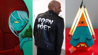 SO MANY PROJECTS!?  - Painting a Leather Jacket, Art for Charity, Thrift Store Art