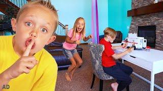 Spying on Jack to Take his Cool Toys! Kids Fun TV!