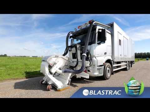 Asphalt Retexturing   Blastrac 2 45DTM Shot Blaster