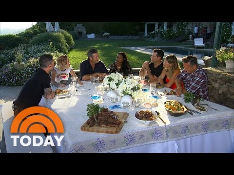 Miley Cyrus, Blake Shelton And Other 'Voice' Stars Feast With Carson Daly | TODAY