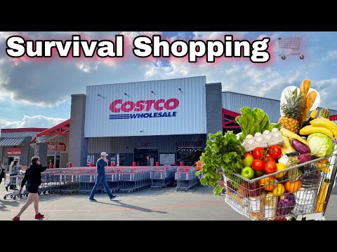 Costco Survival Shopping Last Minute B4 Lockdown