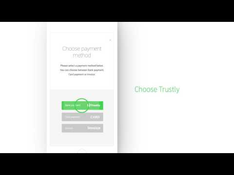 Shopping online with Trustly is easy