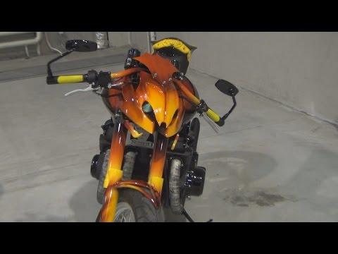 Suzuki GS 1000 Wasp Scorpio Custom Bike Exterior and Interior in 3D