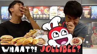Korean and Japanese guy went to Jollibee for the first time! VLOG#01