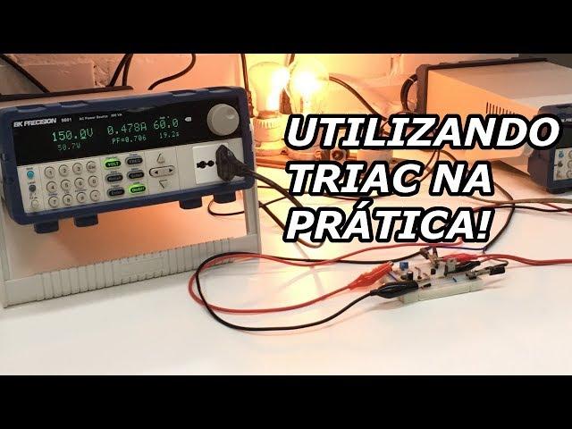 CONTROLE DE POTÊNCIA AC COM TRIAC E CIRCUITOS DIGITAIS!