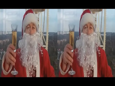 Santa Claus on the Ferris Wheel 3D! Merry Christmas ! Happy New Year ! 3d vr video ( Google Cardboard )