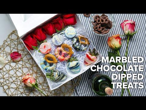 Marbled Chocolate Dipped Treats ? Tasty Recipes