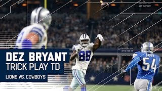 Dez Bryant Throws TD to Witten!  | 🚨Trick Play Alert🚨  | Lions vs. Cowboys | NFL Week 16 Highlights